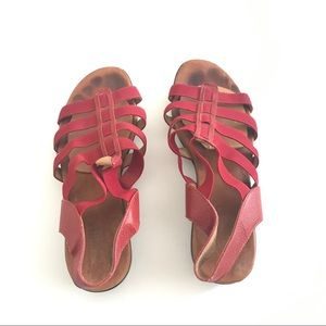 Munro Ankle Strap Red Sandals